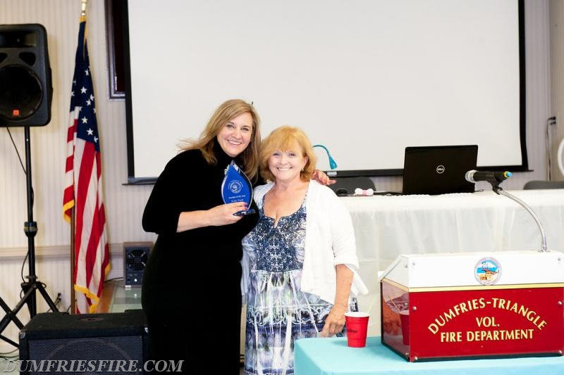Kathy Frank - DTVFD Member Of The Year Award and Virginia Hoskings, President DTVFD
