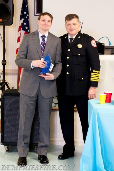 Robert (Bob) Goodman Co-Firefighter of the Year and our newly elected Chief Nick Nanna