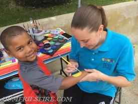 Face-painting for the kids